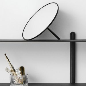 Gejst IO - Kleine spiegel, mat zwarte spiegel van metaal