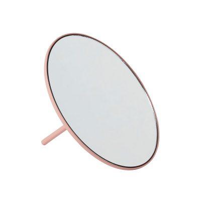 Gejst IO - Mat roze makeup spiegel van metaal