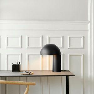 Gejst LEERY - Minimalistische mat zwarte tafellamp, bureaulamp van metaal