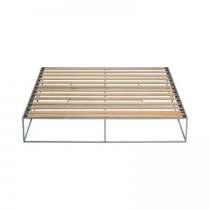 MAZANLI - BED ION - Minimalistisch tweepersoons bed van onbehandeld staal