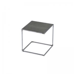MAZANLI - SIDE TABLE NOA - Minimalistische bijzettafel van onbehandeld staal - Pietra Grigia