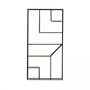 MAZANLI - Shelf DOM ONE - Minimalistische metalen boekenkast