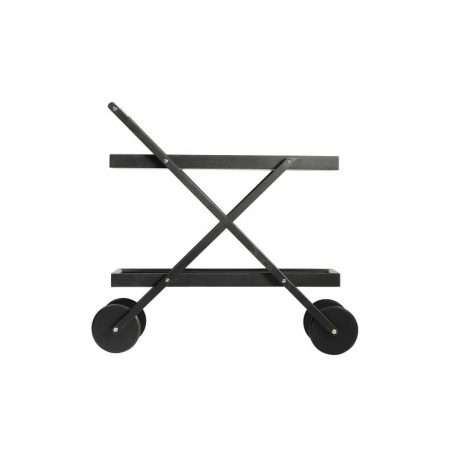 Design House Stockholm EXIT Trolley - Theewagen van zwart hout