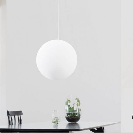 Design House Stockholm - LUNA Glazen hanglamp - bollamp