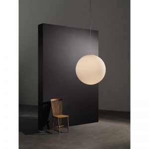Design House Stockholm - LUNA glazen bollamp X-Large Wit Melkglas