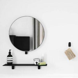 Gejst KOLLAGE MIRROR - Mat zwarte wandspiegel