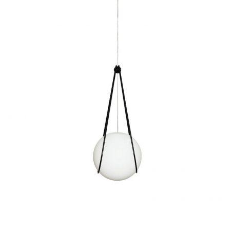 Design House Stockholm - KOSMOS bollamp Medium Wit Melkglas - Zwart