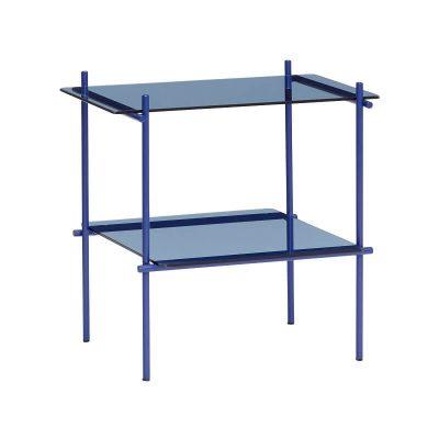 blauwe bijzettafel