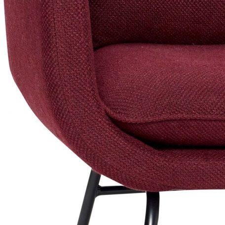 Hubsch Interior - Bordeaux rode armstoel met zwarte poten - 100802