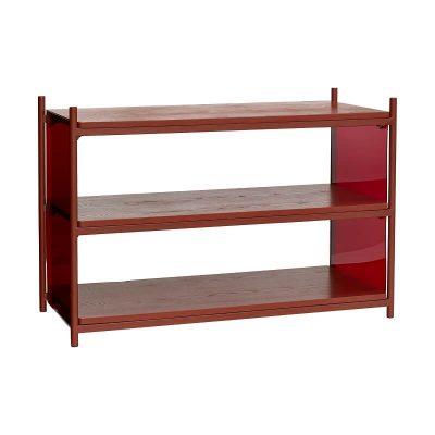 Hubsch Interior - Rood metalen opbergrek met drie schappen - 020803