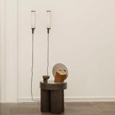 NORR11 - DECO Cilinder wandlamp van staal en opaalglas - Art Deco lamp
