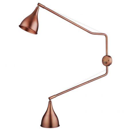NORR11 - LE SIX Twee-armige Industriële wandlamp - Brons
