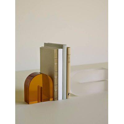 Hubsch Interior - Boekensteun van amber glas - 340803
