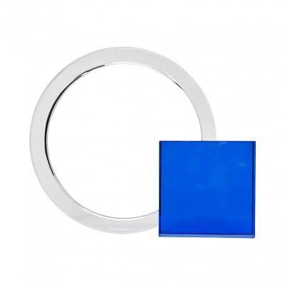 Hubsch Interior - Boekensteun van blauw glas en kristal - 340804