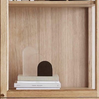 Hubsch Interior - Boekensteun van glas - transparant, melk en rookglas - 340805