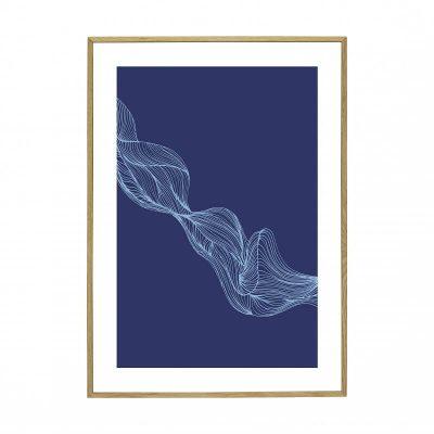 Hubsch Interior - Eiken posterlijst met afbeelding 70x50cm - 880814