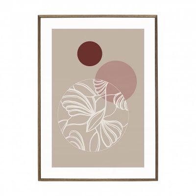 Hubsch Interior - Walnoot posterlijst met afbeelding 70x50cm - 880897