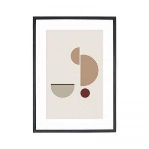 Hubsch Interior - Zwart eiken posterlijst met afbeelding 42x30cm - 880871