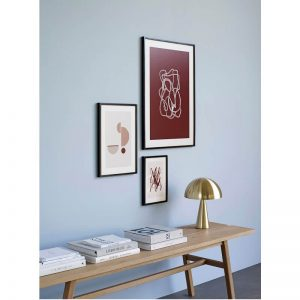 Hubsch Interior - Zwart eiken posterlijst met afbeelding 70x50cm - 880870