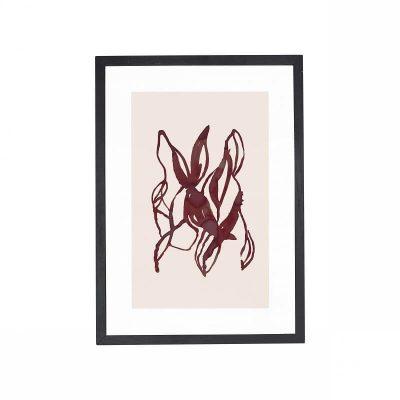 Hubsch Interior - Zwart eiken posterlijst met afbeelding - 880872