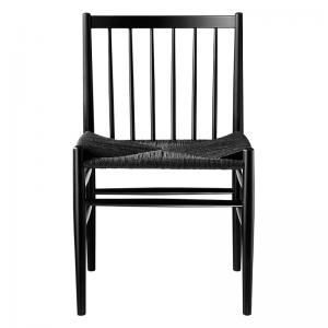 FDB Furniture - J80 Zwart Beuken eetkamerstoel - 125210