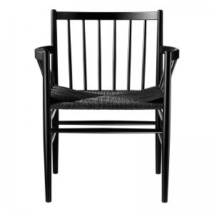 FDB Møbler - J81 Eetkamerstoel zwart-zwart #125214