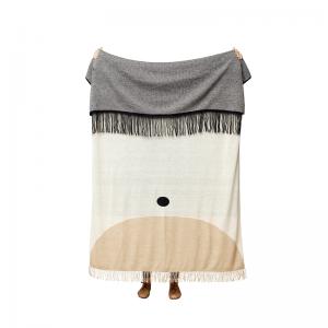 FORM & REFINE - AYMARA kussen - Crème plaid van Alpaca wol - Voorkant
