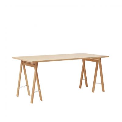 FORM & REFINE - LINEAR - Eiken tafelblad bureaublad whitewash - 165x88