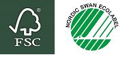 FSC + Nordic Swan logo