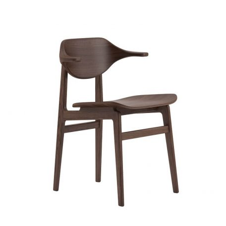 NORR11 - BUFFALO Dining Chair - Donker Eiken eetkamerstoel met houten zitting