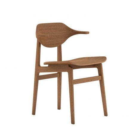 NORR11 - BUFFALO Dining Chair - Gerookt Eiken eetkamerstoel met houten zitting