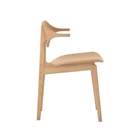 NORR11 - BUFFALO Dining Chair - Naturel Eiken eetkamerstoel met houten zitting