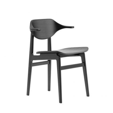 NORR11 - BUFFALO Dining Chair - Zwart Eiken eetkamerstoel met houten zitting
