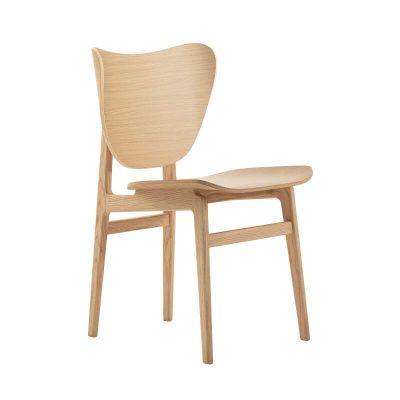 NORR11 - ELEPHANT Dining Chair - Eiken eetkamerstoel met houten zitting - NATUREL