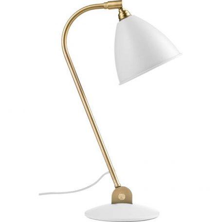 GUBI BL2 tafellamp mat wit-messing (Soft White Semi Matt)