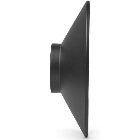 GEJST MOMENTT - Mat zwarte wandklok met melkglas - 10410