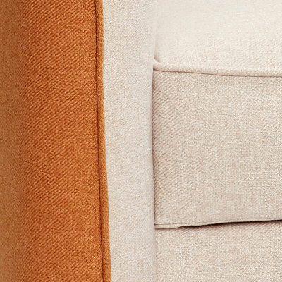 Hubsch Interior - Beige en Oranje bank (2,5-zits) zwarte poten (101202)