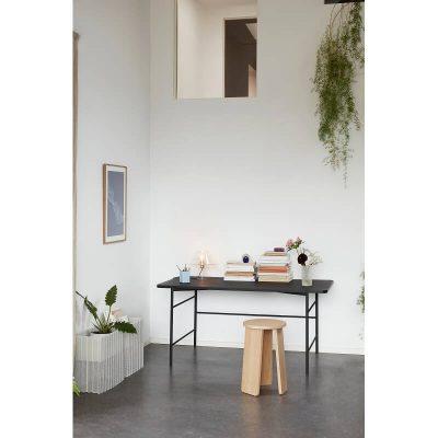 Hubsch Interior - Zwart bureau van metaal met zwart blad - 020909