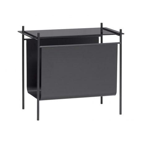 Hubsch Interior - Zwarte bijzettafel met tijdschriftenrek - 021111