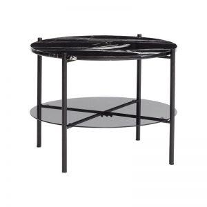 Hubsch Interior - Zwarte salontafel met zwart marmer blad - 020805