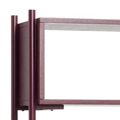 HUBSCH INTERIOR - Bordeaux rood metalen boekenrek - 021103