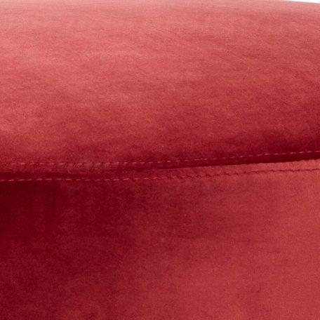 Hubsch Interior - Rood velours bankje met zwarte poten - 100704