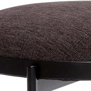 Hubsch Interior - Zwart bankje met zwarte poten - 100702