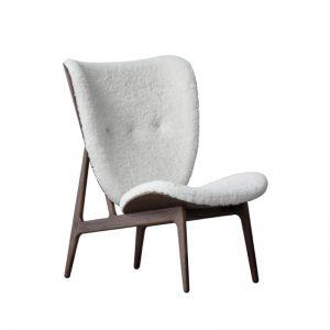 NORR11 - ELEPHANT CHAIR - Eiken fauteuil bekleed met Schapenvacht Off White