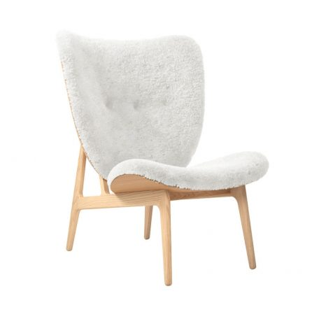 NORR11 - ELEPHANT CHAIR - Eiken fauteuil bekleed met Schapenvacht Off White