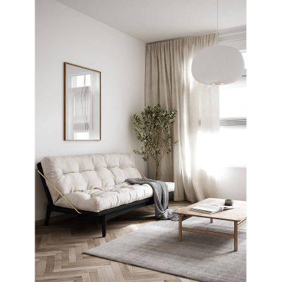 KARUP Design - FOLK bedbank, slaapbank van FSC grenen - Zwart-Wit