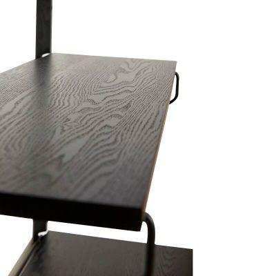 HUBSCH INTERIOR - Mat zwart metalen boekenrek, met vier schappen FSC® - 021321