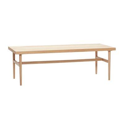 Hubsch Interior - FSC® eiken salontafel met visgraat patroon - 881307