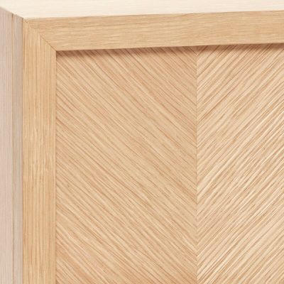 Hubsch Interior - Kastje van FSC® eiken met visgraat motief lades - 881313