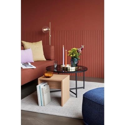 Hubsch Interior - Rechthoekige bijzettafel, nachtkastje van FSC® eiken - 881207